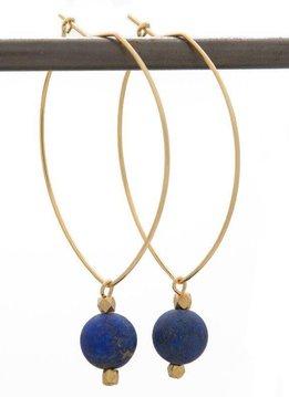 Lenny & Eva FIND VISION. Lenny Gemstone Earrings, Lapis Lazuli