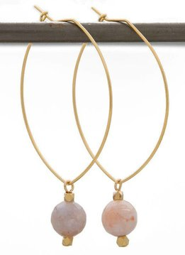 Lenny & Eva SEEK BALANCE. Lenny Gemstone Earrings, Rainbow Agate