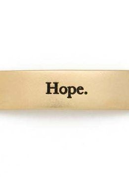 Lenny & Eva Gold Engraved Hope Sentiment