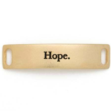 Lenny & Eva Gold Engraved Hope Sentiment