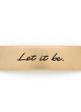 Lenny & Eva Gold Engraved Let It Be Sentiment