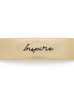 Lenny & Eva Gold Engraved Inspire Sentiment