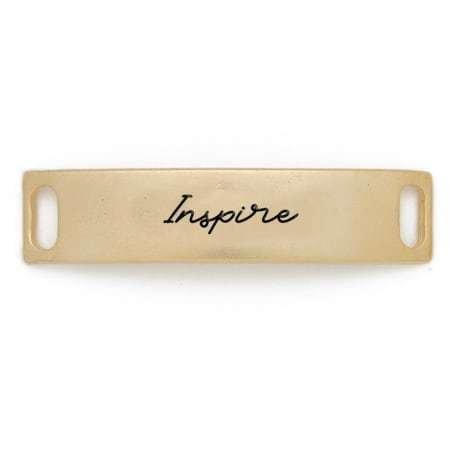 Lenny & Eva Gold Engraved Inspire Sentiment