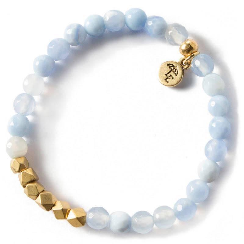 Lenny & Eva 6mm Gemstone Bracelet Blue Lace Agate