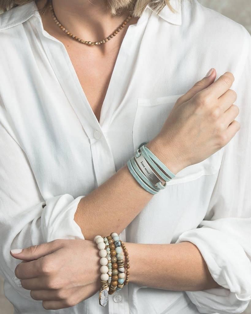 Lenny & Eva Amazonite Gemstone 6mm Bracelet