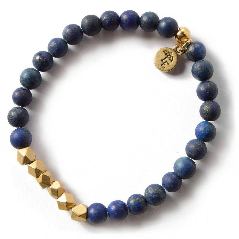 Lenny Eva Lapis Lazuli Gemstone 6mm Bracelet