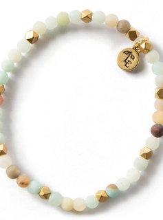 Lenny & Eva Amazonite Gemstone 4mm Bracelet