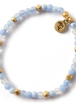 Lenny & Eva Blue Lace Agate Gemstone 4mm Bracelet