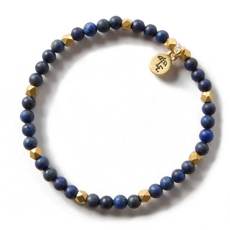 Lenny & Eva Lapis Lazuli Gemstone 4mm Bracelet