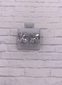 Sterling Square 10mm Stud Earring