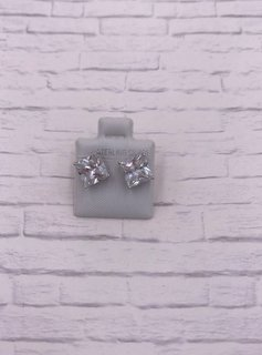 Sterling Silver 8mm CZ Stud Earrings