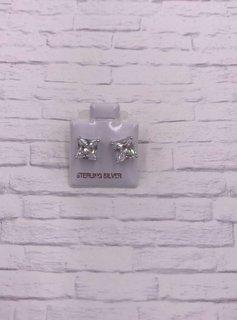 Sterling Silver 7mm CZ Stud Earrings