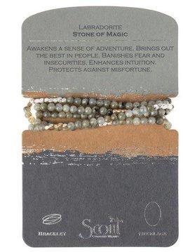 Scout Labradorite Stone Wrap Bracelet or Long Necklace
