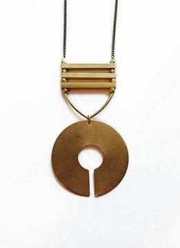 Larissa Loden Golden Brass Sabra 30 inch Necklace