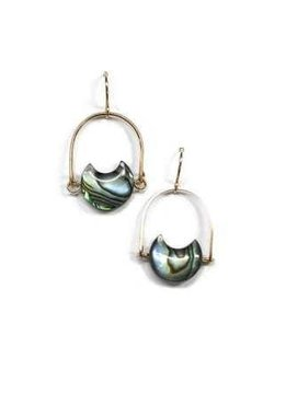 Michelle Starbuck 14K Gold Filled Abalone Mini Eclipse 1 inch Earrings