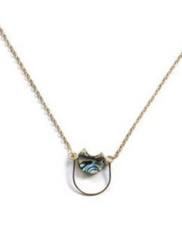 Michelle Starbuck Abalone Mini Eclipse 17 inch Necklace