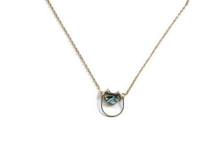 Michelle Starbuck Abalone Mini Eclipse 17 inch Necklace