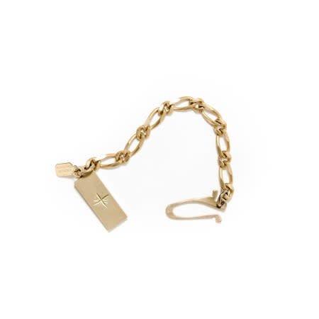 Michelle Starbuck Vintage Box Clasp Gold 6.5 inch Bracelet