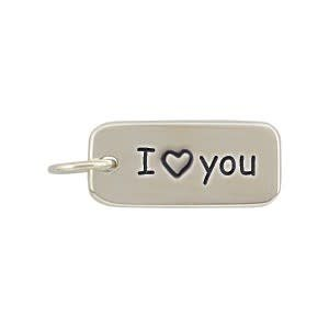 Sterling Silver I Heart You Charm