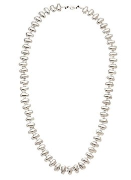 Trades Silver Beaded Necklace