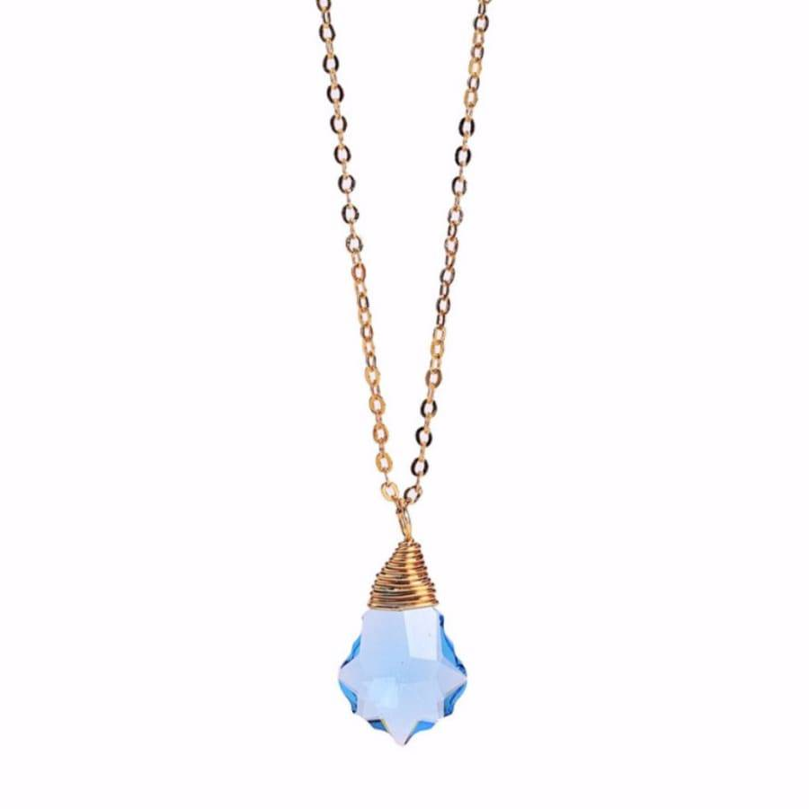 Less is More 14k Gold Filled Sapphire Baroque Necklace