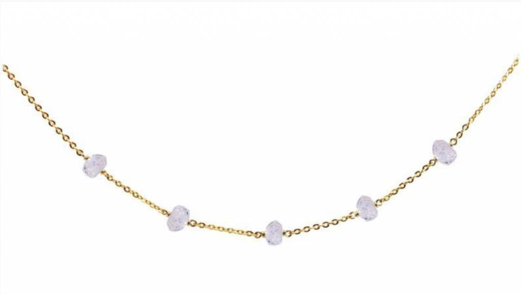 Less is More 14k Gold Filled Moonstone Unity Bracelet