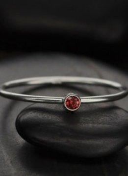 Sterling Silver January Birthstone Ring