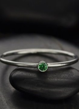 Sterling Silver May Birthstone Ring