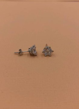Qualita in Argento Italian Sterling Silver Royal Stud Earrings