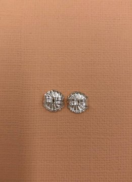 Italian Sterling Silver Big Round Butterfly Earring Backers