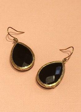Black Onyx Teardrop Earring