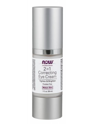 NOW FOODS 2 IN 1 CORRECTING EYE CREAM  1 OZ