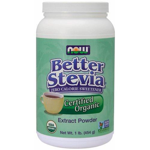 NOW BETTER STEVIA POWDER ORGANIC 1 LB