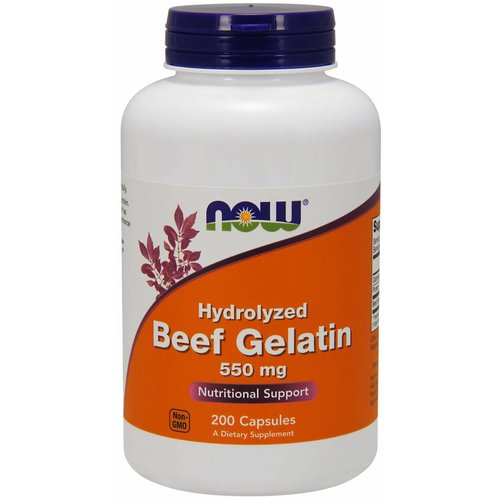 NOW BEEF GELATIN 550mg 200caps