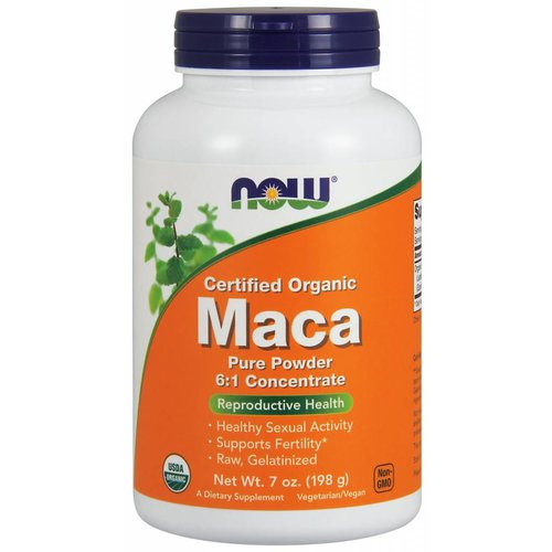 NOW MACA 6:1 CONC POWDER ORG 7 OZ