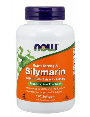NOW FOODS SILYMARIN MILK THISTLE 450mg  120 SGELS