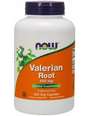 NOW FOODS VALERIAN ROOT 500mg  250 VCAPS
