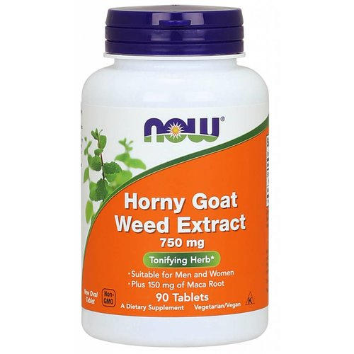 NOW HORNY GOAT WEED 750MG  90 TABS