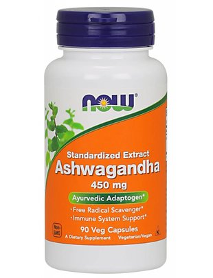 NOW FOODS ASHWAGANDHA EXT 450MG 90 VC