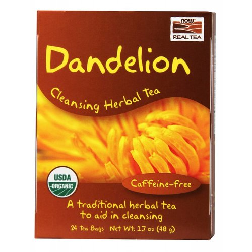 NOW DANDELION TEA BAGS  24 BAGS