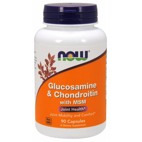 NOW Glucosamine & Chondroitin w/ MSM 90 caps