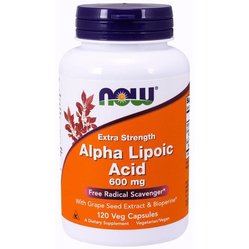 NOW ALPHA LIPOIC ACID 600mg   120 VCAPS