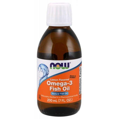 NOW OMEGA-3 FISH OIL LEMON  200 ML (7 OZ)