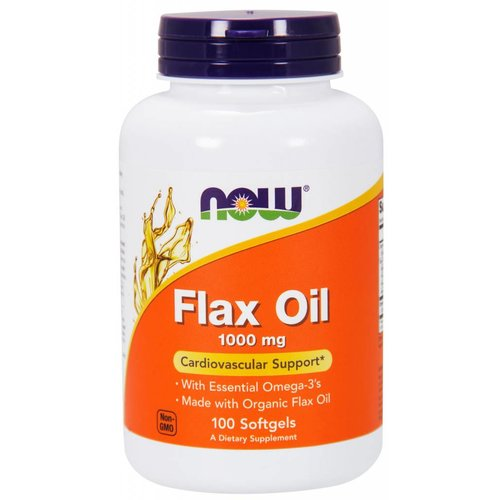 NOW Flax Oil 1000mg 100 softgels
