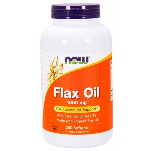 NOW Flax Oil 1000mg 250 softgels
