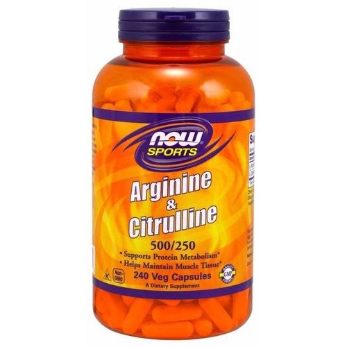 NOW ARGININE & CITRULLINE 240 CAPS