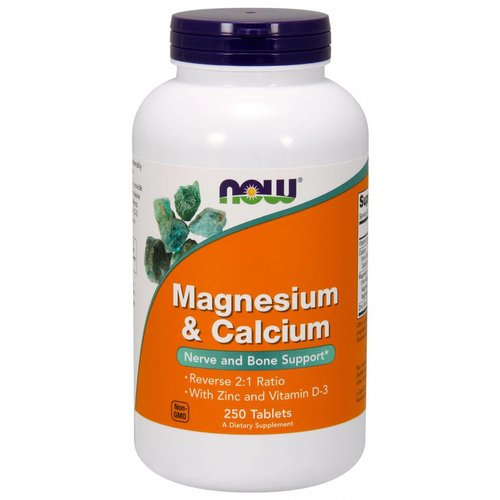 NOW MAG & CALCIUM 2:1 RATIO  250 TABS