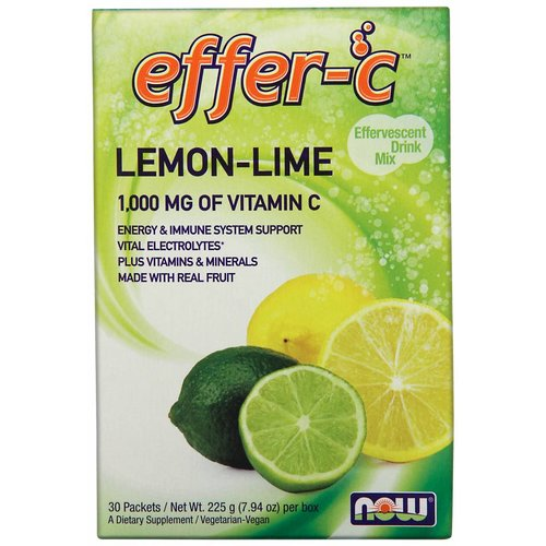 NOW EFFER-C(TM) LEMON LIME 30/BOX