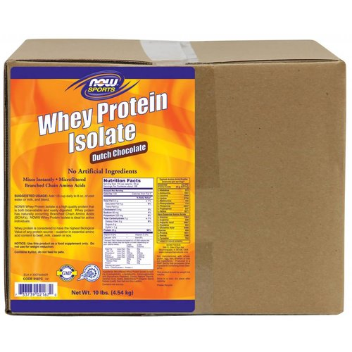 NOW WHEY PROTEIN ISOLATE 10LBS