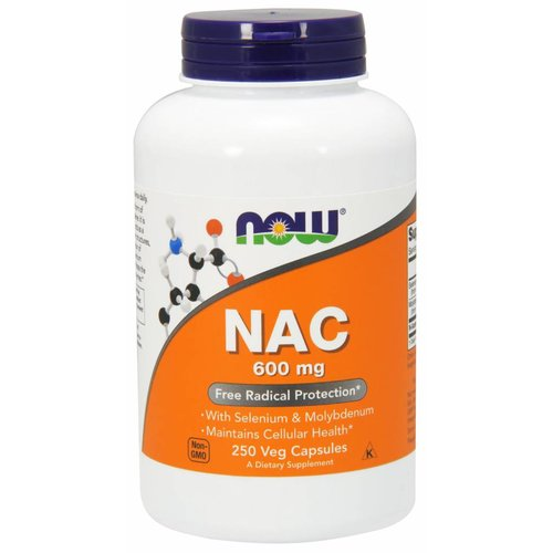 NOW NAC-ACETYL CYSTEINE 600mg   250 VCAPS